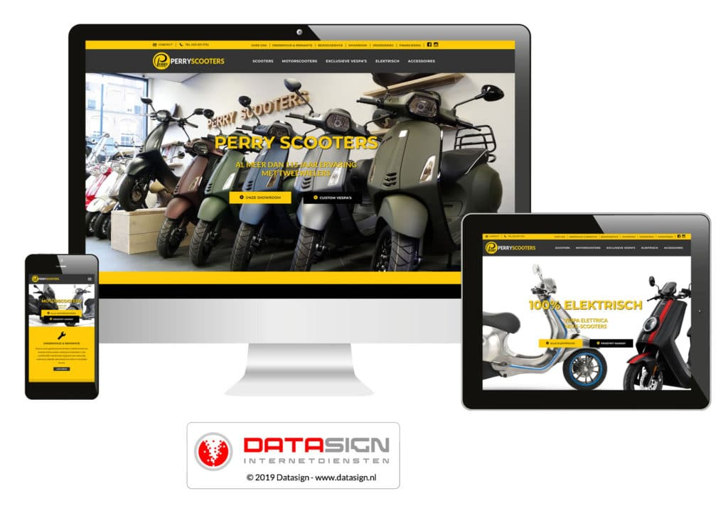 Perry Scooters website Haarlem