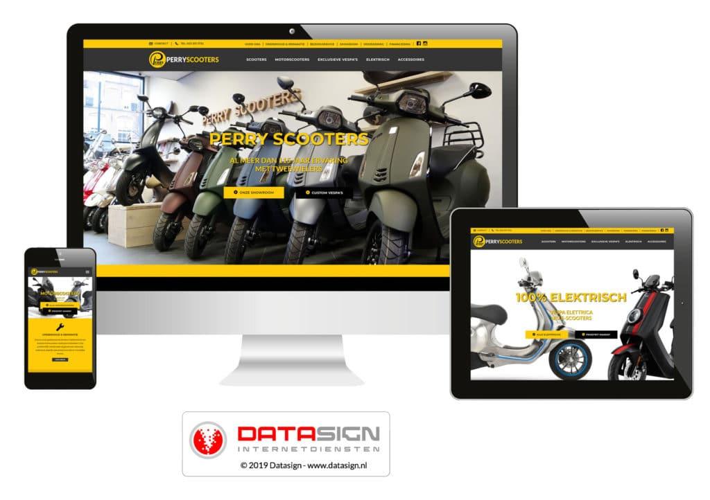 Perry Scooters website Haarlem
